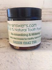 100% Natural Remineralizing Earth Clay Whitening Tooth Powder, Green Chai Tea