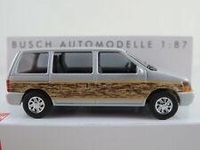 "Busch 44623 Plymouth Voyager ""Woody"" (1990) in silbermetallic 1:87/H0 NEU/OVP"