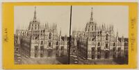 Dôme Da Milan Duomo Italia Foto Duroni Stereo Vintage Albumina c1860