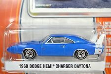 DODGE HEMI CHARGER DAYTONA 1969 BLUE GREENLIGHT MUSCLE SERIES 9 13090 1:64 NEW