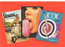 3 A4 CARD PRINTS.  Mod, Pop art, 60's fashion, scooter, Vespa.