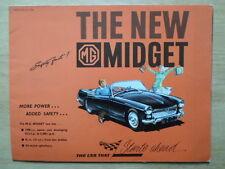 Mg Midget ORIG 1962 UK inchiostri SALES BROCHURE