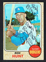 Ron Hunt #15 signed autograph auto 1968 Topps Baseball Trading Card