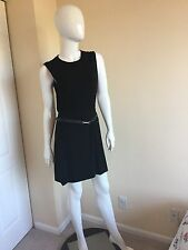 Brand New Gucci Belted Cap Sleeves Sheath Dress IT M MFR $1650
