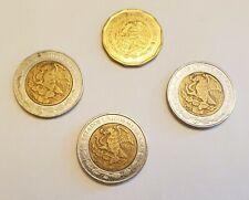 3 DIFFERENT BI-METAL 1 PESO MEXICO COINS 1995 2005 2008 & 20 Centavos 2009 Circ