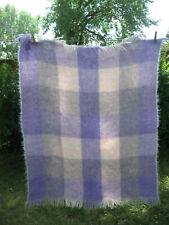 "Vintage Glen Cree Mohair Blanket Lilac Grey Peach Cream  44""X37"" Scotland"