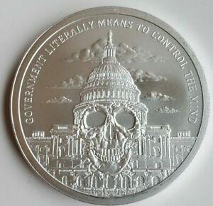 2018 1oz Government Mind Control BU Silver Shield Monumental Truth #7 ***