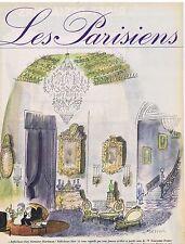 PUBLICITE ADVERTISING 114 1962 Les Parisiens avec Sempé