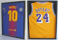 TWO UV Protect Jersey Display Cases Wall Frames Football Baseball, LOCKABLE
