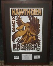 Hawthorn 2013 Weg Art Match Day L/E Poster *Signed*
