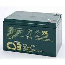 CSB 12V 12Ah EVX 12120 Golf Cart Trolley Caddy Battery EVX12120
