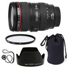 Canon EF 24-105mm f/4 L IS USM Lens + Lens Hood + Case + UV Filter