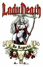 LADY DEATH ART PRINT #21 By MIKE DeBALFO Signed by BRIAN PULIDO / COFFIN COMICS