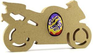 Motorbike Freestanding MDF Easter Creme Egg holder Craft 18mm thick