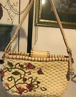 BRIGHTON BUTTERFLY 3D FLOWERS Colorful spring summer Med. handbag satchel purse