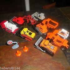 10 lot Matchbox Construction Vehicles Bulldozer Cement Truck Tractor Bob Cat +