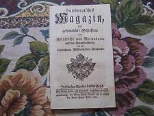 1750 ... Magazin 6 / Erdbeben / Ackerbau 3 / Wein Weinbau / Fische
