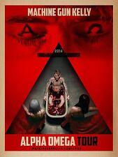 "Machine Gun Kelly ""Alpha Omega Tour 2016"" Concert Poster - Mgk, Rap Music"