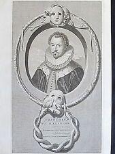 François de France duc d'Alençon par Van der Werff et gravé Van Gunst XVIIe S.