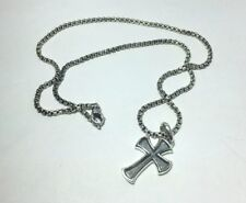 David Yurman Sterling Silver Petvs Cross Chain Necklace
