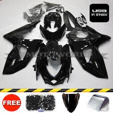 Aftermarket Suzuki Fairing Kit For GSXR1000 2009-2015 K9 Black Free Bolts Set 09