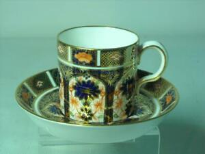 1930s Royal Crown Derby COFFEE CUP & SAUCER Imari 1128 1st Quality - Can