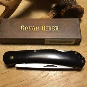 "Rough Rider Lockback Blackwood Work Knife 4"" with Landyard Hole RR1708"