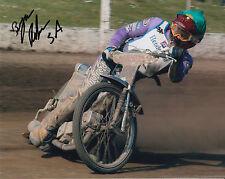 BYRON Bekker mano firmato Scunthorpe SCORPIONI foto 10 x 8 Speedway gioco 1.