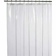 LiBa Mildew Resistant Anti-bacterial PEVA 8g Shower Curtain Liner 72x72 Clear