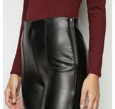 New Look Leather-look Trousers Leggings Size 10