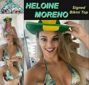Vivacious Sexy Playboy Supermodel HELOINE MORENO Signed/Owned/Worn BIKINI TOP
