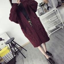 Women's Knitwear Open Cardigan Coat Long Sleeve Loose Knitted Sweater Jumper