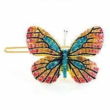 USA BUTTERFLY Hair Clip Hairpin use Swarovski Crystal Elegant Unique Blue B-5