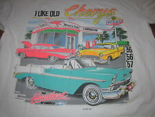 I LIKE OLD CHEVYS VINTAGE TEE SHIRT 55 CHEVY 56 CHEVY 57 CHEVY OLD TEE SHIRT