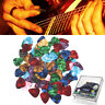100pcs Acoustic Electric Guitar Picks Plectrum Various 6 thickness + Pick Box PX