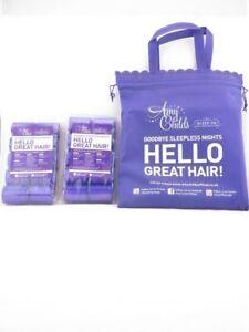 Sleep In Rollers - 20 Purple Rollers Gift Set inc Purple Draw String Bag