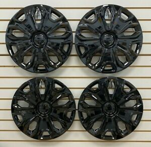 """NEW 2015-2018 FORD TRANSIT 150 250 350 VAN 16"""" BLACK Wheelcovers Hubcaps SET"""