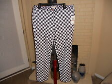 NWT MICHAEL MICHAEL KORS HOUNDSTOOTH PRINT DRESS PANTS IN NEW NAVY  SIZE 12