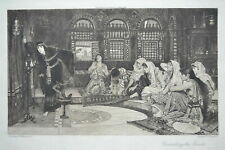 J.W. WATERHOUSE CONSULTING THE ORACLE ORIGINAL ETCHING C.O MURRAY PRE-RAPHAELITE
