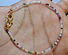 "N-2173 Mix Quartz Gemstone Natural Round Plain Loose Beads 7ct 2mm 7"" Bracelet $"
