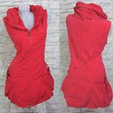 NEU Kleid Lange Weste Tunika Longshirt GLAMZ FRANSTYLE Rot Gr 50 (R0324)
