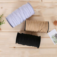 10M Flat Elastic Band Webbing Cloth Lace Dress Rubber Trim Ribbon Sew DIY Crafts