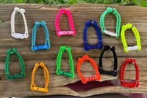 Set of 6 Puppy Paracord ID Breeders Whelping Collars w/ Breakaway Buckle