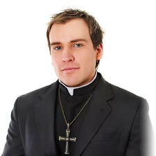 Priest Shirt With Collar In Front Fancy Dress Costume