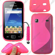 Housse Etui Coque Silicone S-line Rose Samsung Galaxy Gio S5660 + Mini Stylet