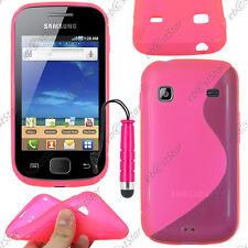 Housse Etui Coque Silicone S-line Rose Samsung Galaxy Gio S5660 + Mini Stylet