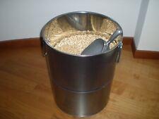 Porta pellet/legna. Contenitore da interno - Bidone per pellet in inox