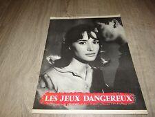 LES JEUX DANGEREUX pascale audret jean servais rare scenario presse cinema 1958