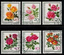 SWITZERLAND 1972 - 1982 Old Beautiful Roses Stamps
