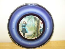 Antique Glass Flue Cover Beautiful Victorian Girl And Boy Playing Hide And Seek